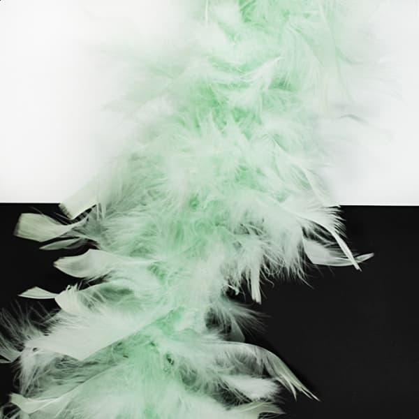 Боа пух-перо ментол, 2 м
