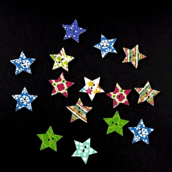 Деревянный декор звезда, 25х25 мм