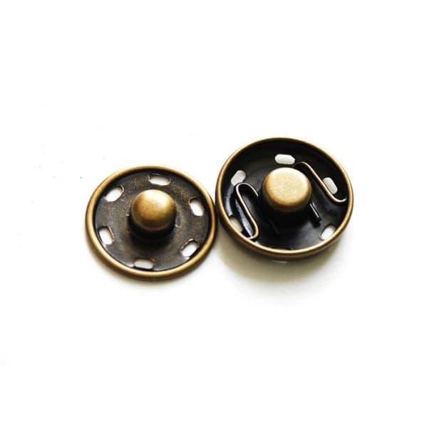 Кнопка пришивная антик, 15 мм
