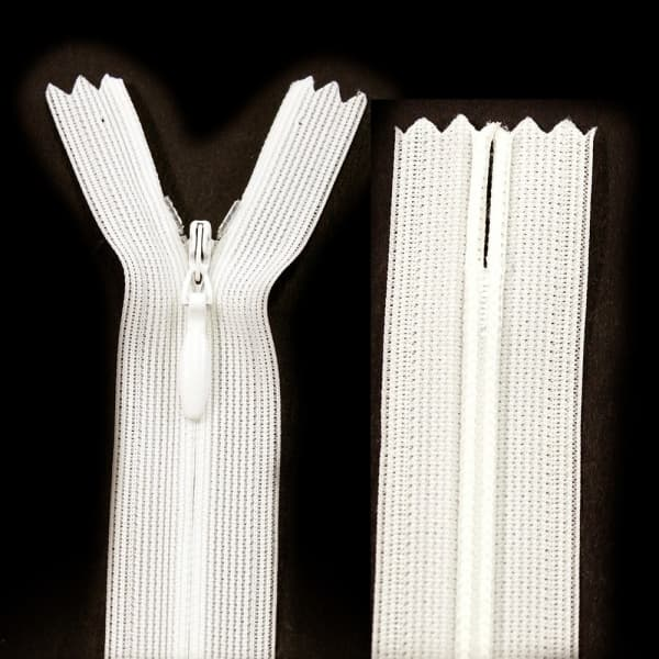 Молния Lux ванильная потайная, 13 см