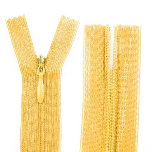 Молния Lux желтая потайная, 30 см