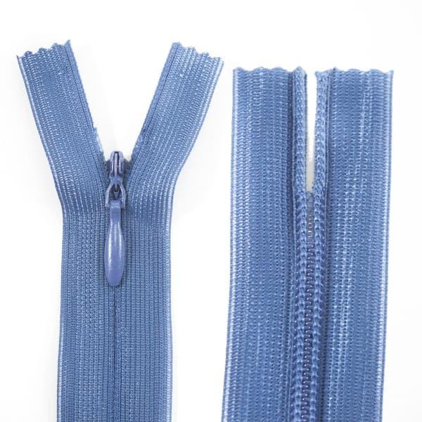 Молния Lux голубая потайная, 23 см