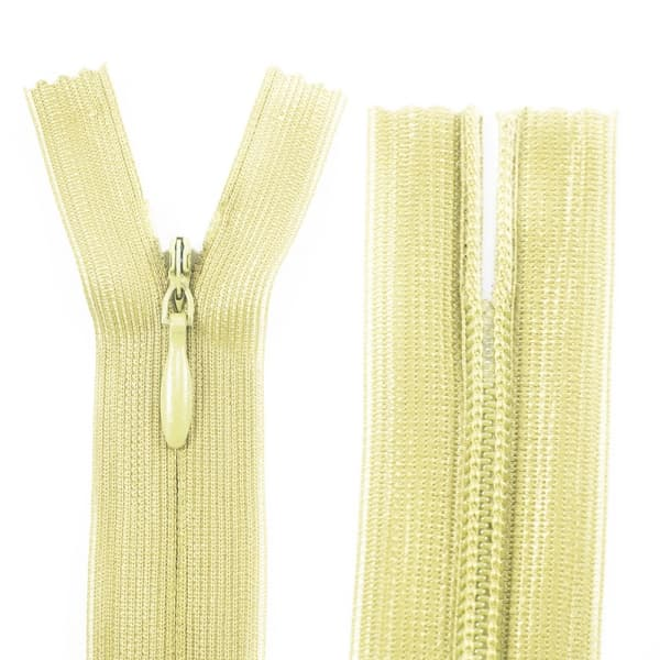 Молния Lux светло-желтая потайная, 18 см