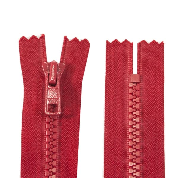 Молния YKK красный, 19 см