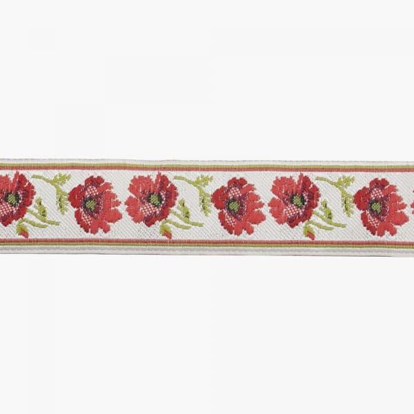 Лента декоративная маки, 3.5 см