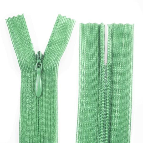 Молния Lux зеленая потайная, 30 см
