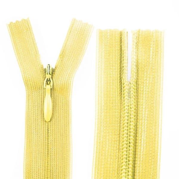 Молния Lux желтая потайная,25 см