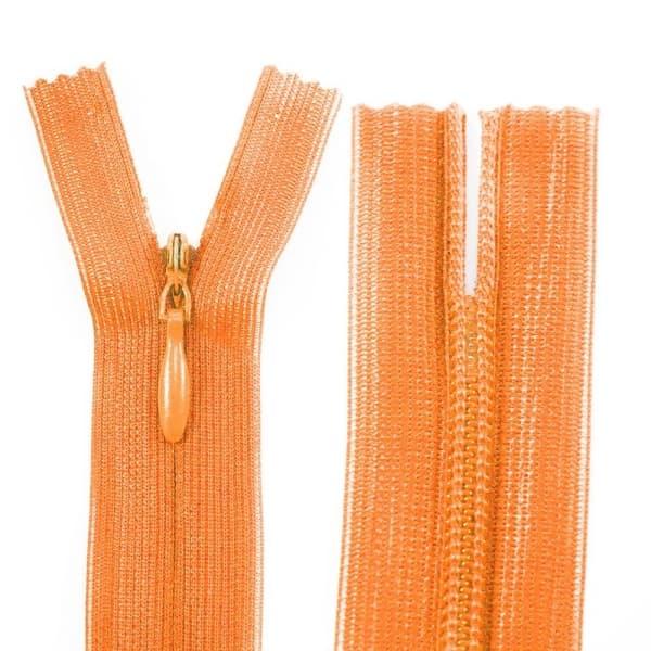 Молния Lux морковная потайная, 25 см