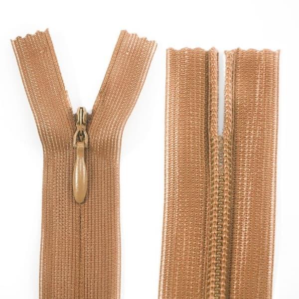 Молния Lux светло-коричневая потайная,18 см