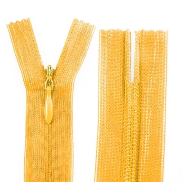 Молния Lux желтая потайная, 20 см