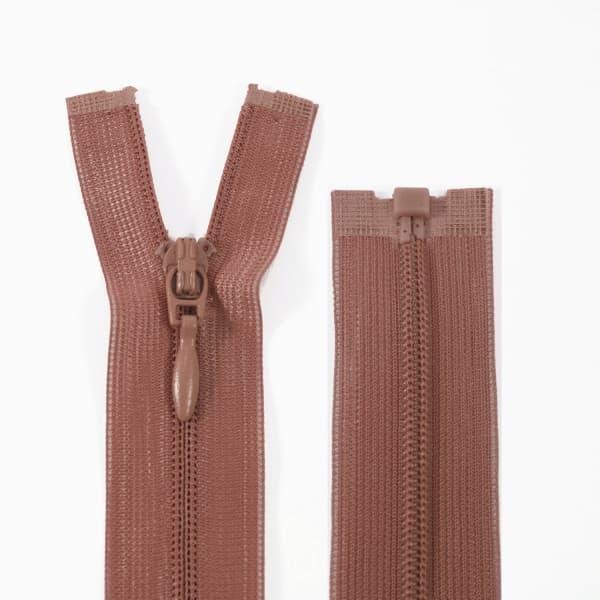 Молния Lux коричневая потайная, 29 см