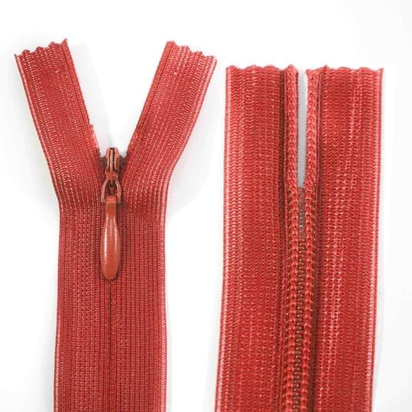 Молния Lux красная потайная, 18 см