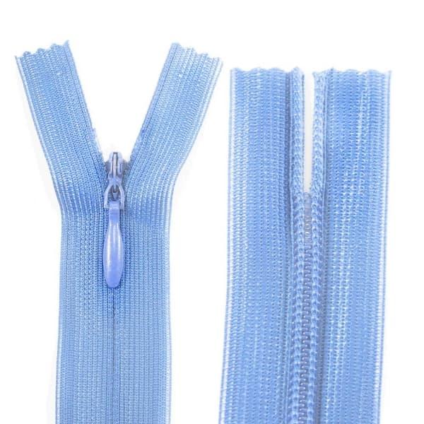Молния Lux голубая потайная, 20 см