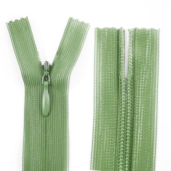 Молния Lux зеленая потайная, 23 см