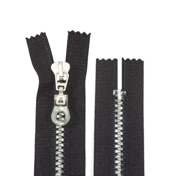 Молния Lux черная+прозрачная, 15 см