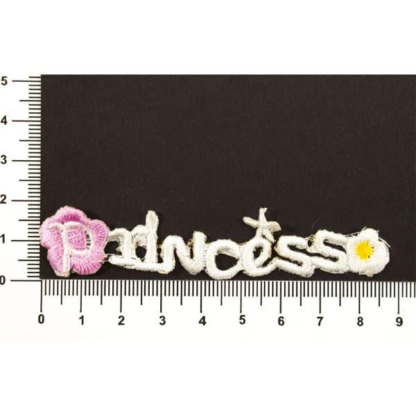 Аппликация пришивная Princess бел
