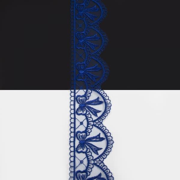Кружево синее,  6 см