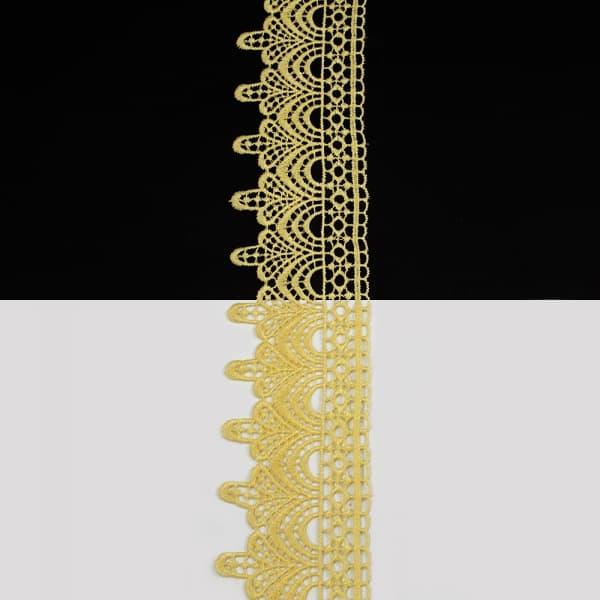 Кружево желтое, 5 см