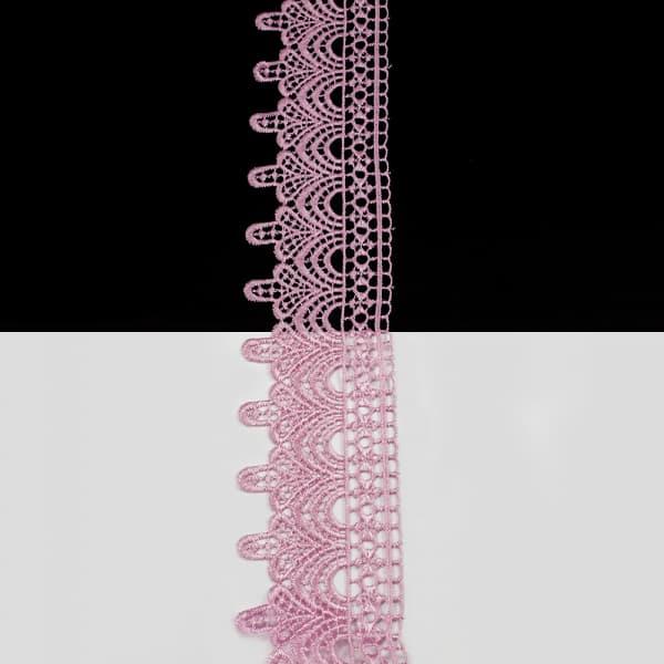 Кружево розовое, 5 см