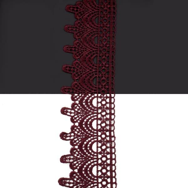 Кружево бордо,  5 см