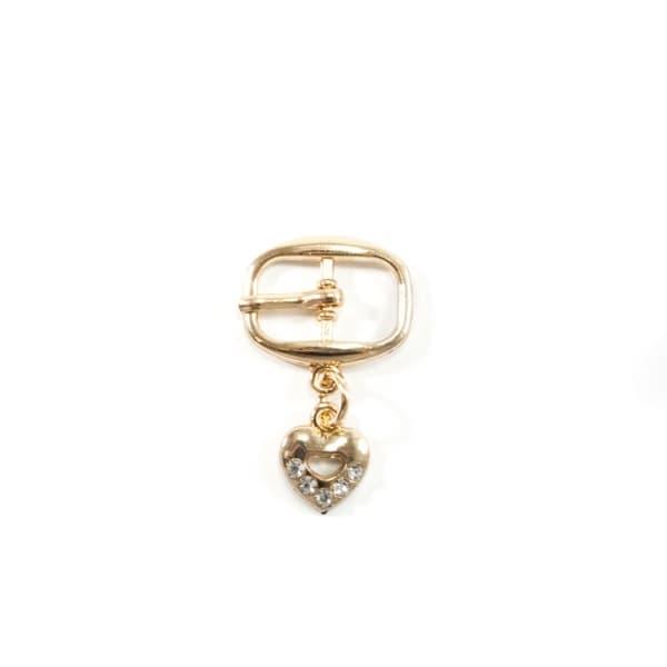 Пряжка сандальная золото, 10х20 мм + подвеска