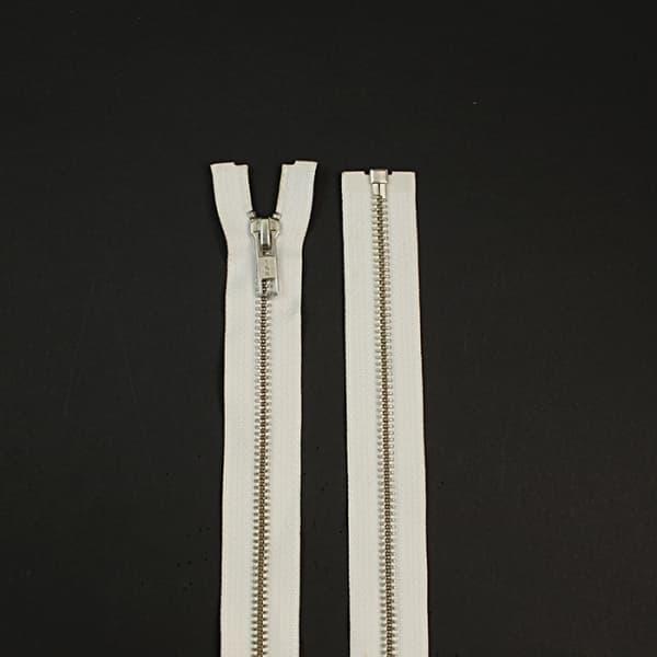 молния YKK белая+никель, 60 см