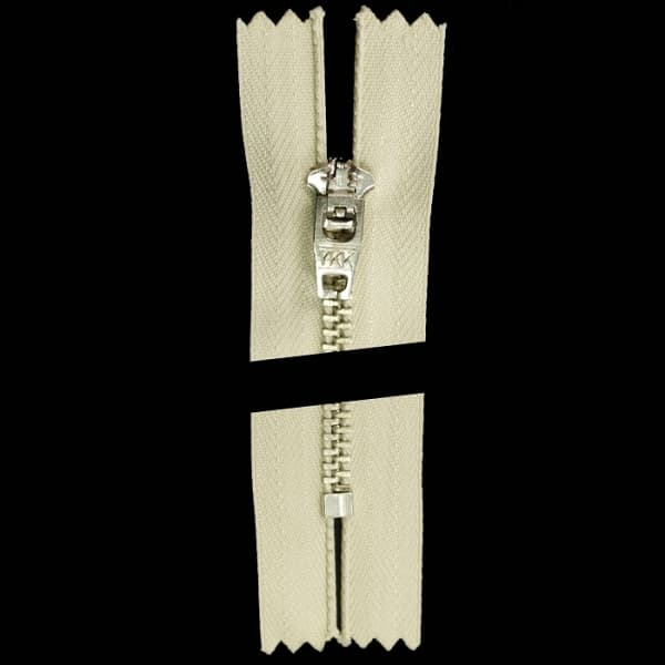 Молния YKK бежевая+никель, 18 см