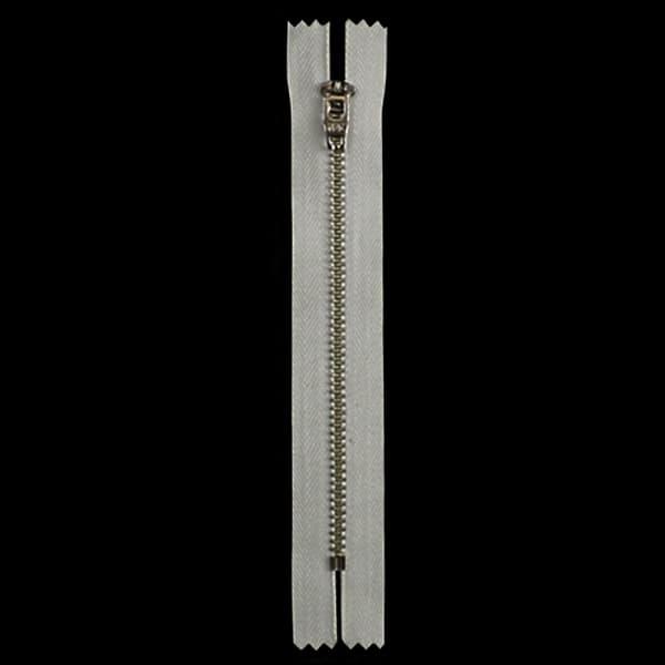 Молния YKK молочная+никель,14 см