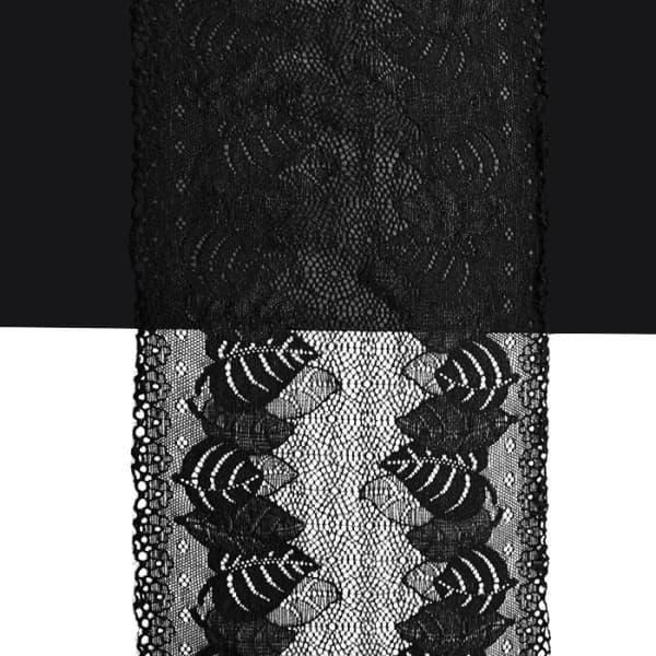 Кружево черное, 17 см