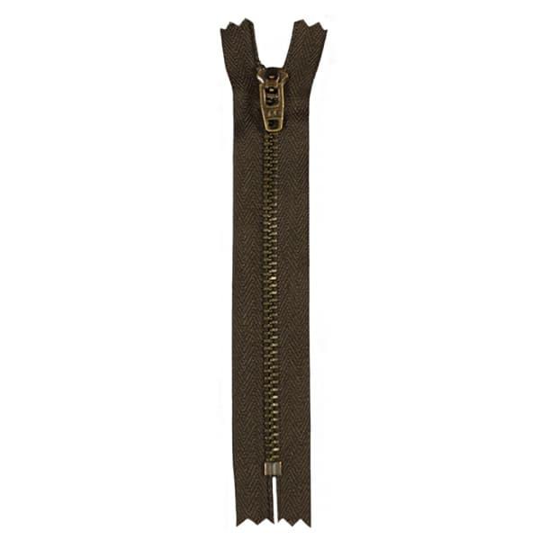 Молния YKK коричневая +антик,13 см