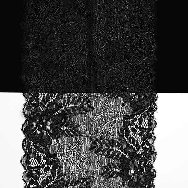 Кружево черное, 18 см
