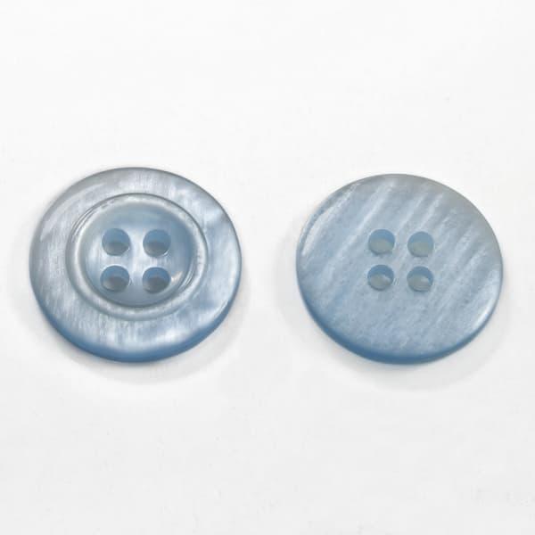 Пуговица голубая, 18 мм