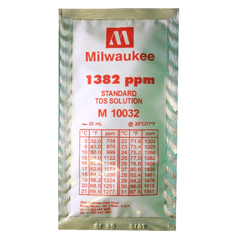 1382ppm tds calibration solution 20мл milwaukee