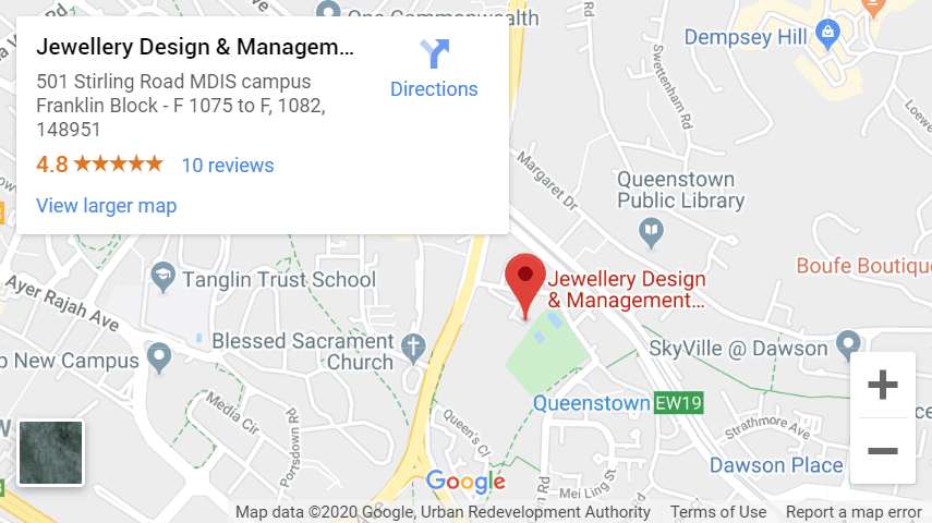 Snapshot of JDMIS location on google Maps