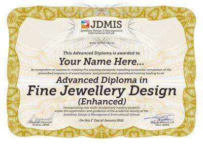 Advanced Fine Jewellery Design Diploma
