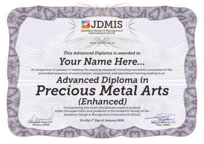 Advanced Precious Metal Arts Diploma
