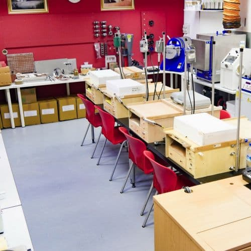 The Ruby room has casting equipment, egraving, plating, poslishing, 3D printing and more!