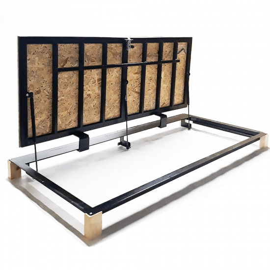 "Floor steel access door size 80 cm x 150 cm ""H"" with OSB panel for wood flooring"