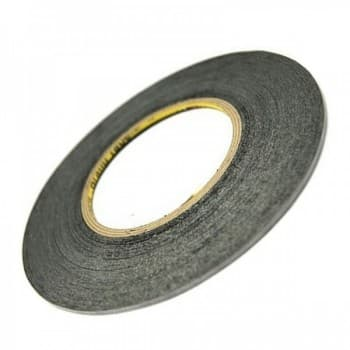 Double side adhesive tape for touchscreens 5mm black