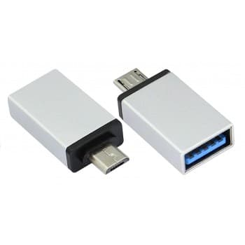 Adapter from MicroUSB to USB (OTG) aliuminum