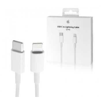 "USB cable Apple ""USB-C (Type-C) to Lightning Cable"" (2M) (A1702) iPhone/iPad/iPod/Macbook/iMac/AirPods original (used Grade A) with box"