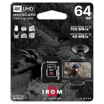 Memory card GOODRAM MicroSD 64GB (U3 V30 class10) + SD Adapter