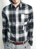 Double Vertical Pocket Plaid Shirt