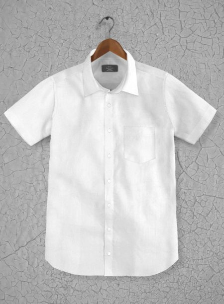 Italian Cotton Dobby Meica White Shirt