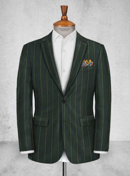 Thomson Green Stripe Wool Jacket