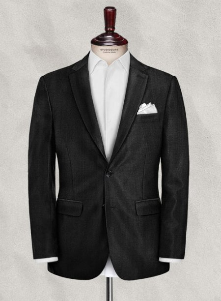 Cerruti Erado Black Wool Jacket
