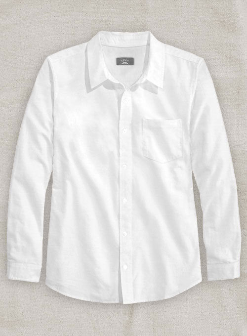 Italian Cotton Linen Tuia White Shirt