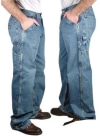 Carpenter Style Cargo Denim Jeans