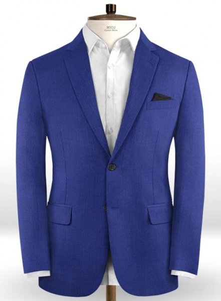 Scabal Egyptian Blue Wool Jacket