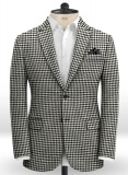 Big Houndstooth BW Tweed Jacket